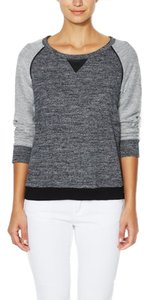 Firth French Terry Leather Trim Sweater