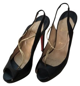 Christian Louboutin Black gold red Platforms
