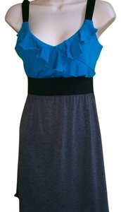 Speechless short dress Turquoise black gray on Tradesy
