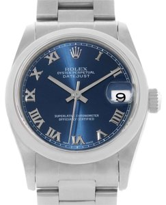 Rolex Rolex Midsize Datejust Blue Roman Dial Ladies Steel Watch 78240