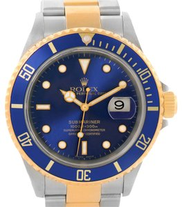 Rolex Rolex Submariner Steel Yellow Gold Automatic Watch 16613 Box Papers