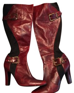 Jessica Simpson Black and burgundy Boots