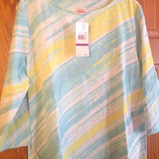 Ruby Rd. 37160 T Shirt Blue And Green - 40% Off Retail good