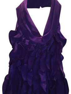 BCBGMAXAZRIA Deep purple Halter Top