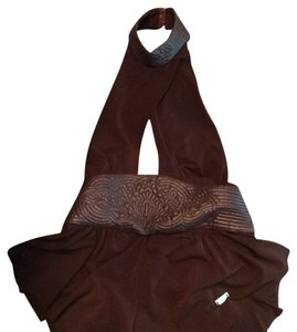E Loco Deep brown Halter Top