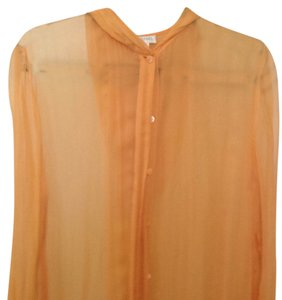 Henri Bendel Button Down Shirt Orange