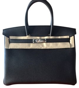 Hermès Kelly Silver Silver Hardware Togo Leather Tote in Black