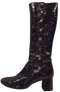 Chloé BLACK PATENT LEATHER TALL Boots