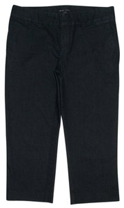 Gap 4 Pocket Style Zip Fly Capri/Cropped Denim-Dark Rinse