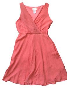 J.Crew Silk Chiffon Knee Lenght Vneck Dress
