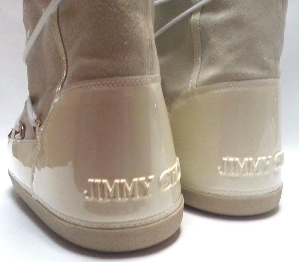 174b612c1e19 Jimmy Choo Suede Shearling Moon Winter Snow Ivory Boots Image 11.  123456789101112