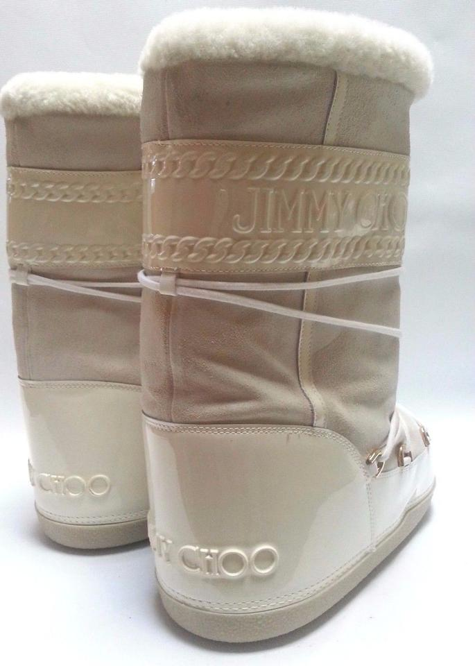 e2229d411cb0 Jimmy Choo Ivory 112 Grove Moon Boots Booties Size US 11 Regular (M ...
