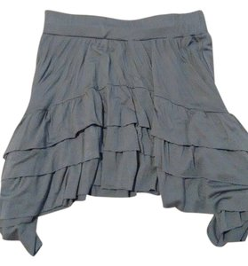 Gibson Casual Flowy Skirt Gray