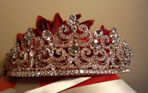 Princess Gold Tiara Austrian Crystals