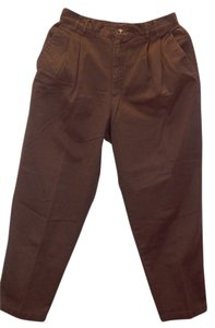 Basic Editions Khaki/Chino Pants Brown