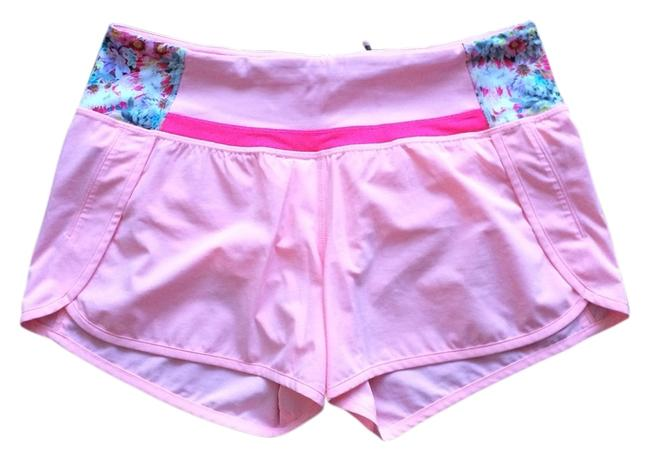 Item - Bleached Coral/ Neon Pink/ Flowabunga Mini Run Times (4-way Stretch) Activewear Bottoms Size 6 (S, 28)