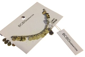 BCBGeneration NWT BCBG Multi-Gold Disc Ankle Bracelet 9-11