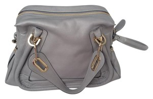 Chloé Gold Hardware Satchel in Cashmere Grey