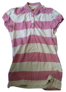 Old Navy Button Down Shirt pink & white