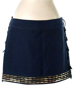 Rachel Roy Embellished Mini Skirt Navy