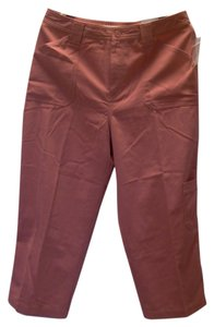 Croft & Barrow Capri/Cropped Pants Burnt Siena