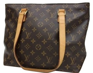 Louis Vuitton Monogram Neverfull Cabas Tote in Brown