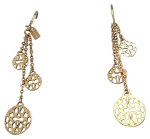 Coach Coach filigree gold tone dangle earrings