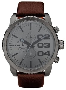 Diesel Diesel Watch - Grey with Brown Leather Strap