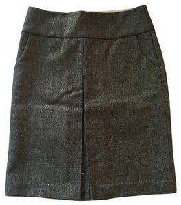 J.Crew Wool Holiday Shimmer Skirt Grey