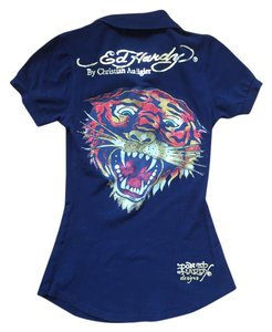 Ed Hardy Button Down Shirt Black