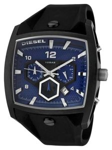 Diesel Diesel Chronograph Watch - Blue with Black Silicone Strap