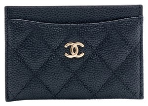 Chanel Caviar Quilted Leather Card Holder Black