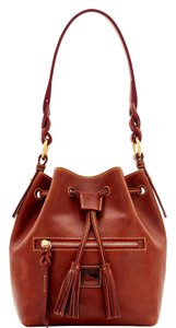 Dooney & Bourke Drawstring Florentine Leather New With Tags Tassels Shoulder Bag