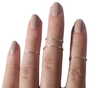 Other One Thin Handmade Sterling Silver Midi Knuckle Toe Stackable Ring