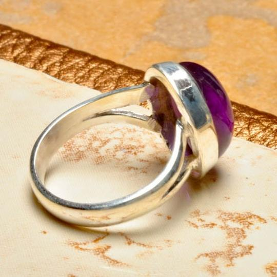 Other 925 STERLING SILVER NATURAL AMETHYST GEMSTONE RING SZ 6