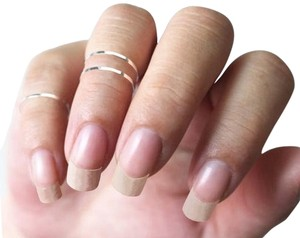 1 Thin Handmade .925 Sterling Silver Midi Knuckle Toe Stackable Ring