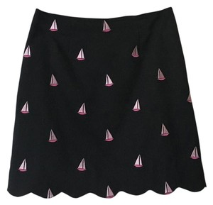 Lilly Pulitzer Mini Skirt Black Pink