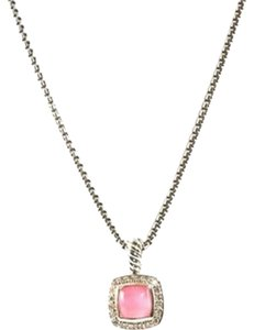 David Yurman Sterling Silver Alibon Tourmaline Necklace with diamonds