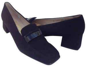 Salvatore Ferragamo Dark Gray Pumps