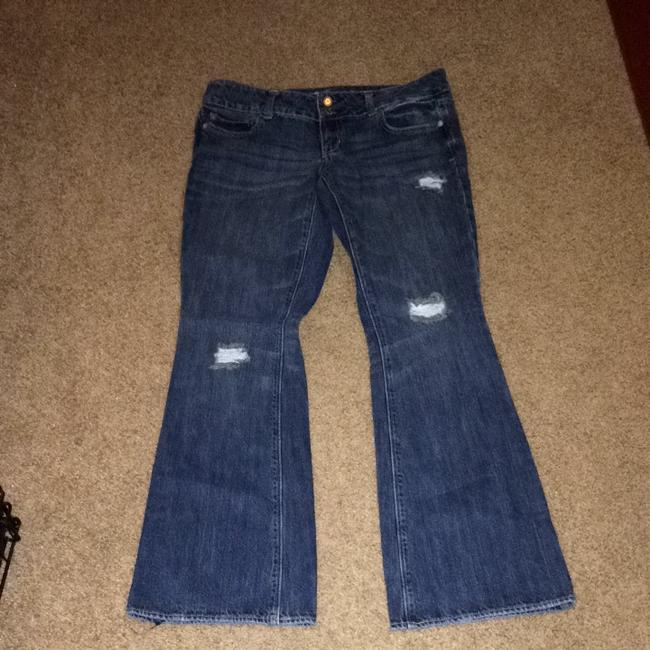 American Eagle Outfitters Flare Leg Jeans-Dark Rinse Image 1