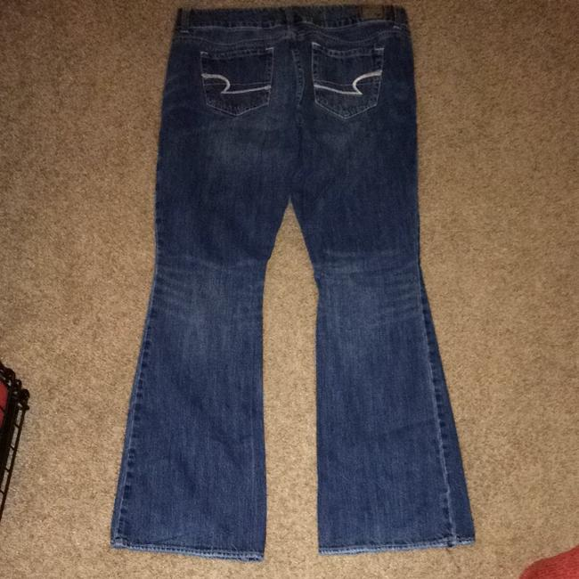 American Eagle Outfitters Flare Leg Jeans-Dark Rinse Image 3