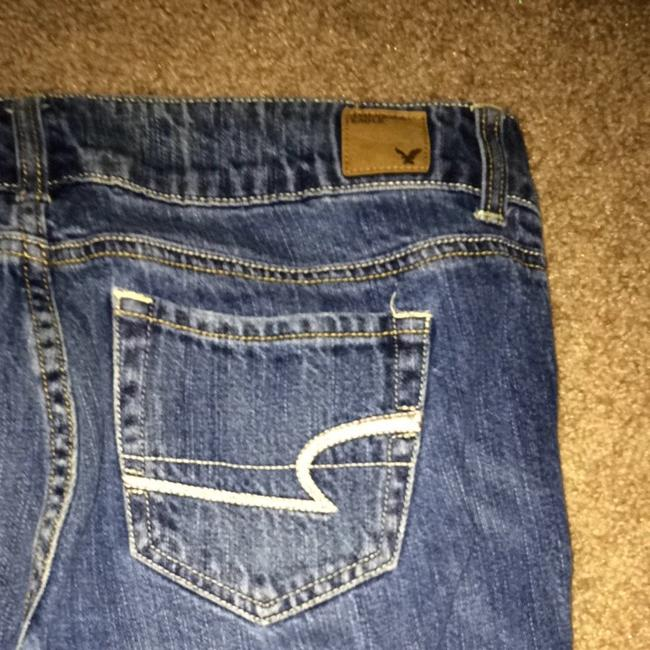 American Eagle Outfitters Flare Leg Jeans-Dark Rinse Image 4