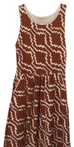 Anthropologie short dress Brown and white on Tradesy