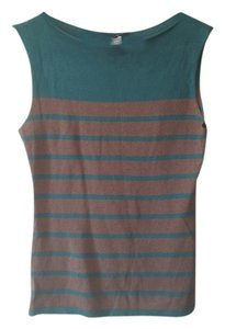 Nanette Lepore Top Teal stripe