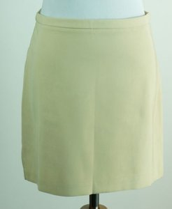Laundry by Shelli Segal Micro Mini Khaki Mini Skirt Beige