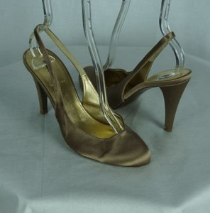 J.Crew Heels Cate Slingbacks Light Satin Brown Pumps