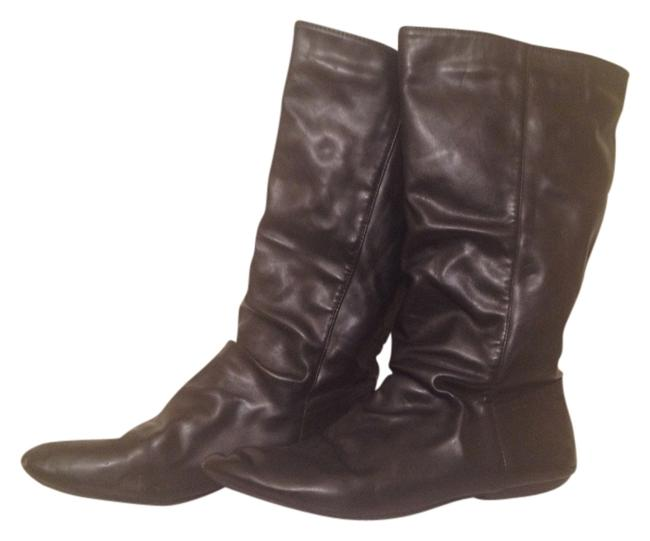 Item - Black Flat Slouchy Boots/Booties Size US 8.5