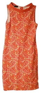 Talbots short dress Paisley (Orange, Yellow & White) Cotton Spandex on Tradesy