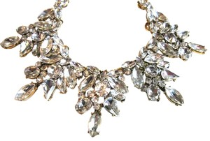 Eye Candy LA EYE CANDY COUTURE - Crystal Cluster Bib Statement Necklace
