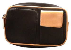 Coach Leather Canvas Fanny Pack Belt Cross Body Bag